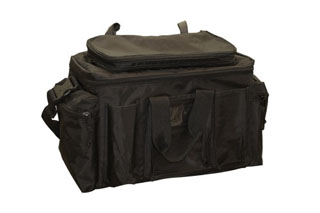 Black Ballistic Nylon Field/Equipment Bag w/Removeble Top For Embroidering-Perfect Fit