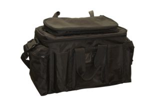 Black Ballistic Nylon Field/Equipment Bag w/Police Logo-