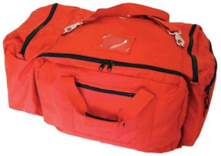 Large Red Nylon Fire Gear Bag w/Maltese Cross-Perfect Fit