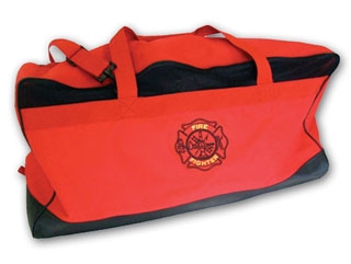 Large Red Mesh & Nylon Fire Gear Bag-Perfect Fit
