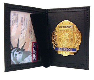 "2 3/4"" x 4 1/4"" Dress Leather Badge And ID Case-"