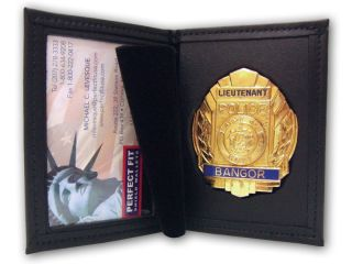 "2 3/4"" x 4 1/2"" Dress Leather Badge And ID Case-"