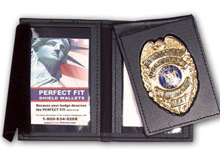 Dress Leather Flip Out Badge And Double ID Case-Perfect Fit