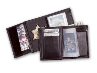 Recessed Badge Wallet With Snap-