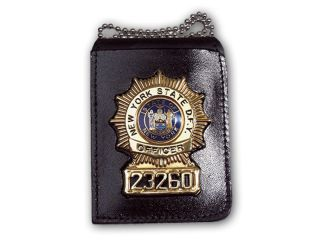 Recessed Badge Holder With Chain-