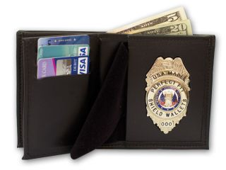 "2 3/4"" x 4 5/8"" Badge And Double ID Wallet-"