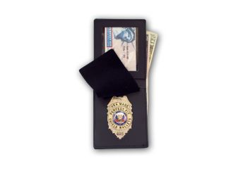 Duty Top Opening Badge Case With Money Pocket-Perfect Fit