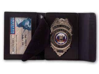 "2 1/2"" x 3 3/4"" Recessed Badge And ID Case With Snap Closure-"