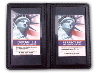 """2 5/8"""" x 4"""" Duty Leather Double ID Case-"""
