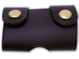 Wide Quad Snap Belt Keeper With Black Snaps-