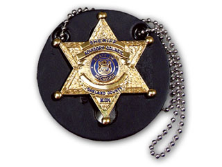 Round Universal Badge Holder With Chain-Perfect Fit