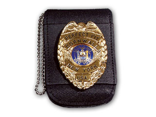 "3 3/4"" x 4 1/2"" Universal Badge And ID Neck Holder With Magnetic Closure-"