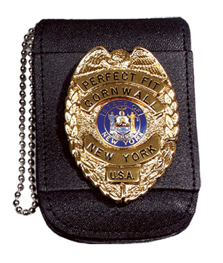 "2 3/4"" x 3 1/4"" Universal Badge And ID Holder With Chain-Perfect Fit"