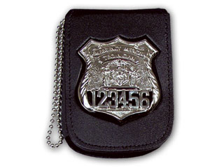 "2 3/4"" x 4 1/2"" Recessed Badge And ID Neck Holder With Pocket And Chain-"