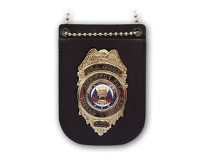 Recessed Badge Holder With Clip And Chain-Perfect Fit