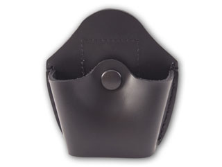 Open Top Handcuff Case With Black Snap-