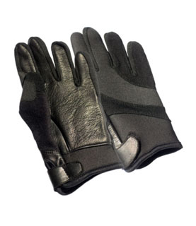 Neoprene/Leather All Weather Cut Resistance Kelvar Lined Duty Gloves-Perfect Fit