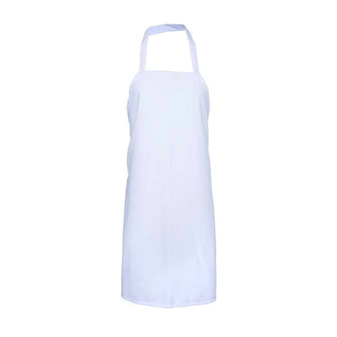 Large Cut Bib Apron w/ Tubular Braid Ties-