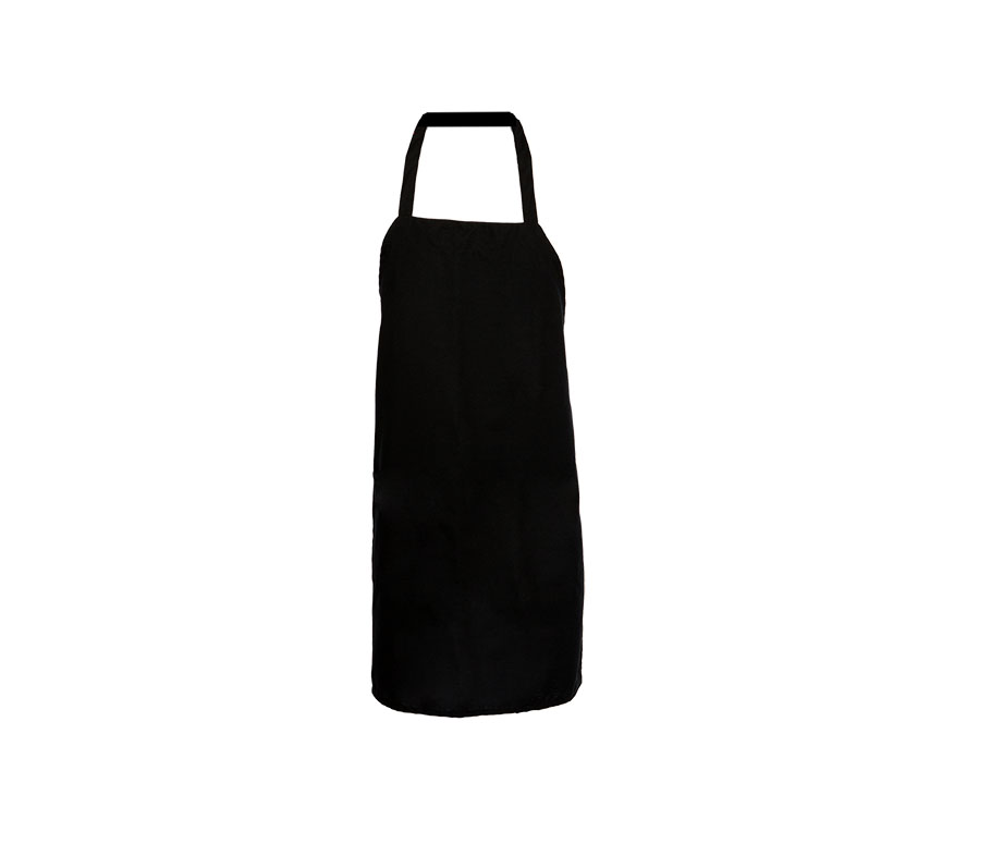 Bib Apron, no pocket, 27.5x31.5, tubular ties-