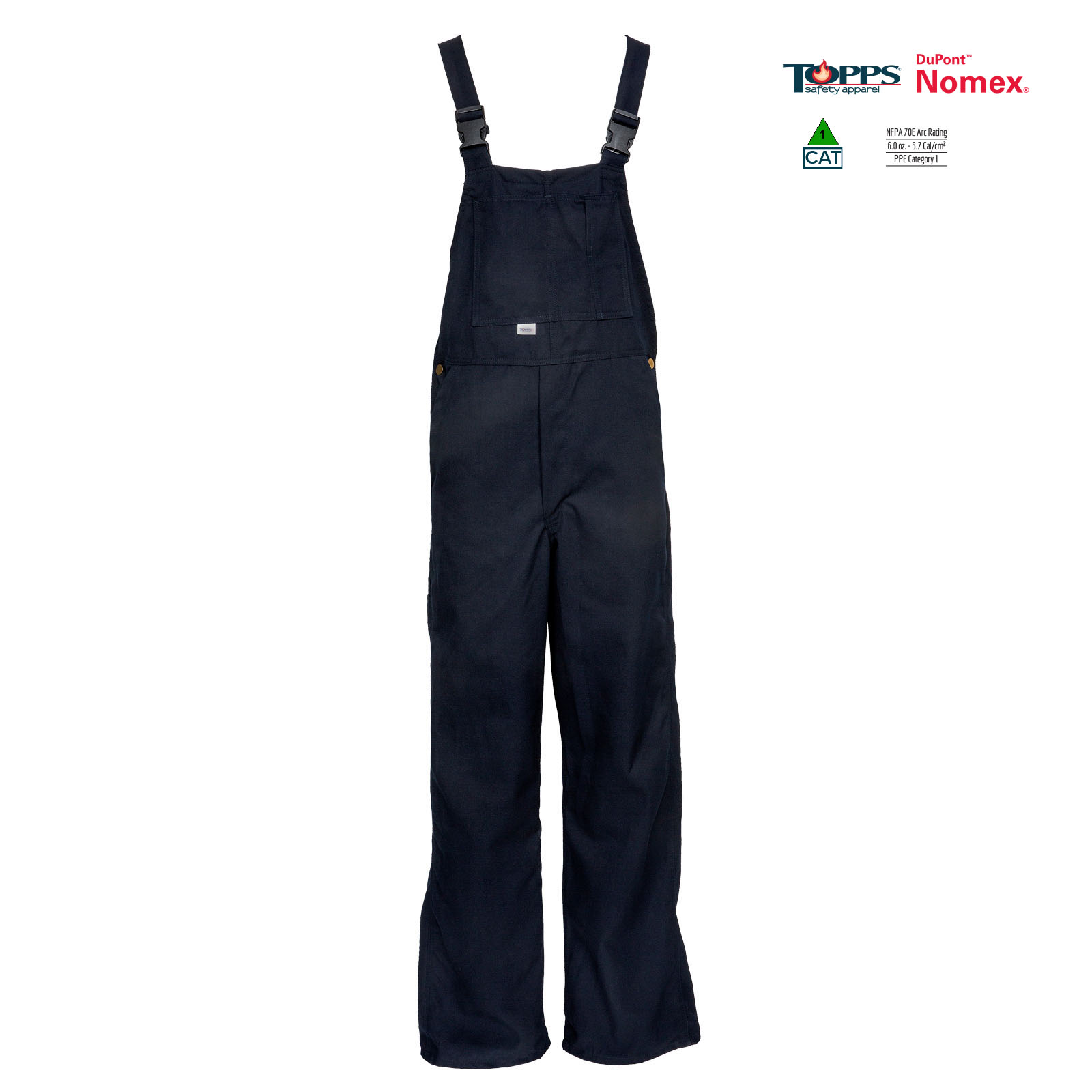 NOMEX® Flame Resistant Unlined Bib Front Overall-TOPPS
