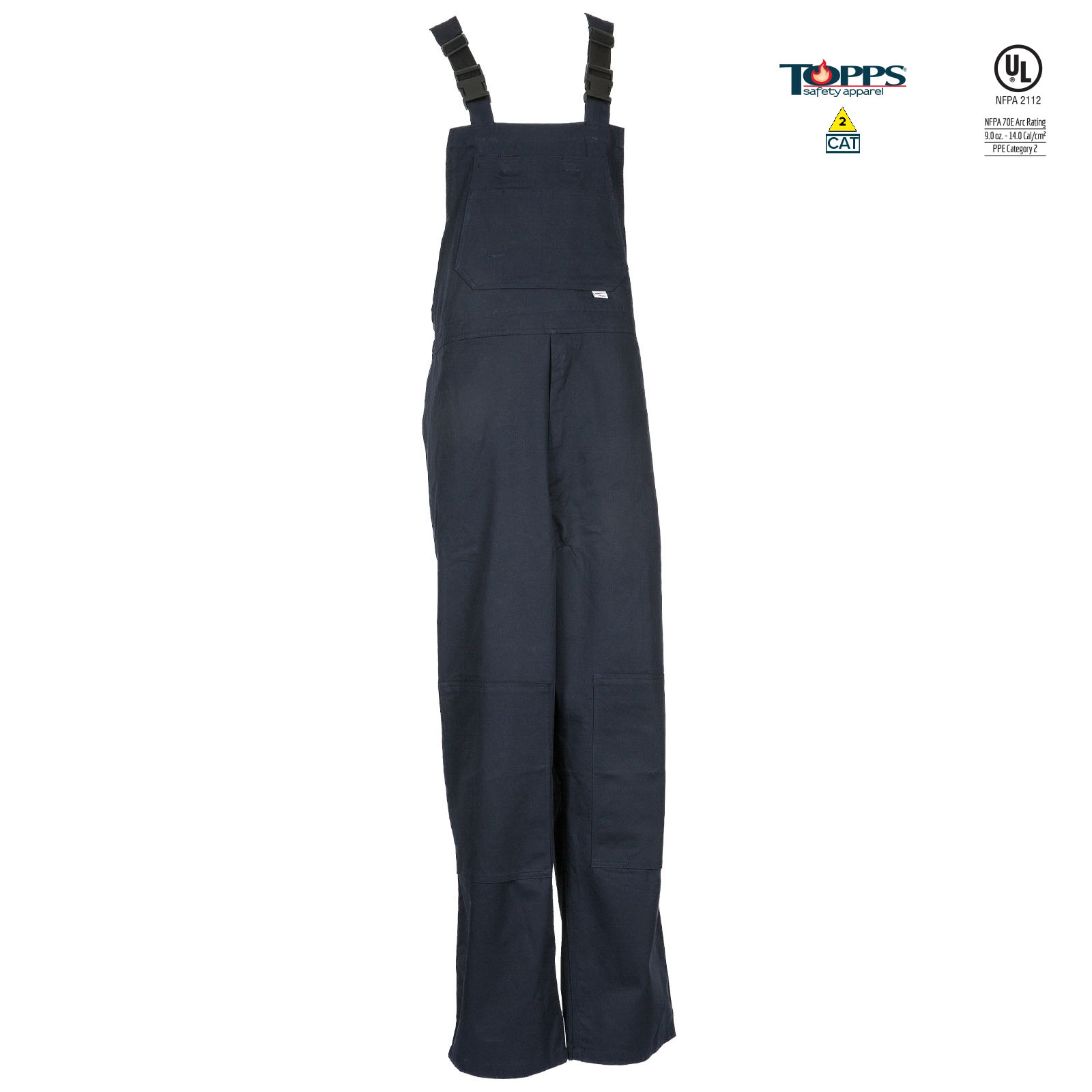 PEAK FR 88/12 Cotton/Nylon Blend Flame Resistant Unlined Bib Front Overall-TOPPS