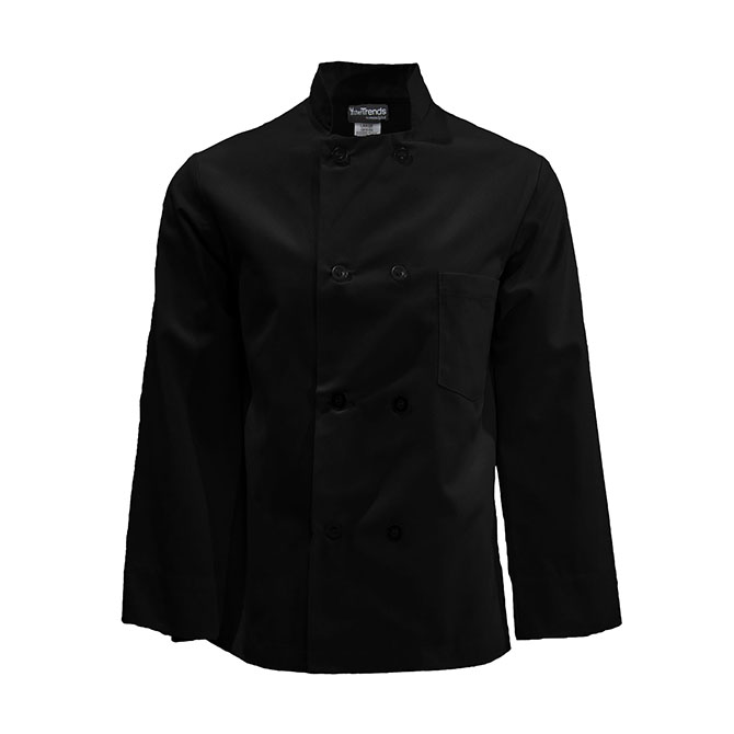 Basic Chef Coat, Plastic Buttons-CHEF TREND