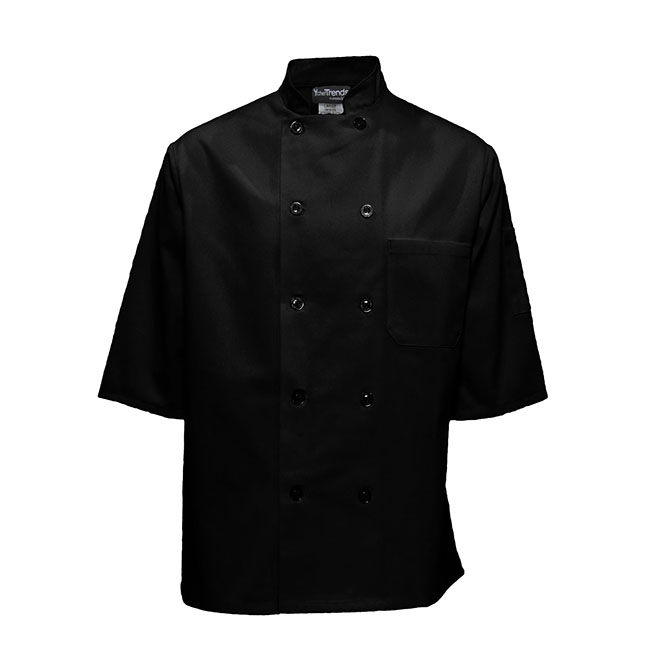 1/2 Sleeve Plastic Button Chef Coat-
