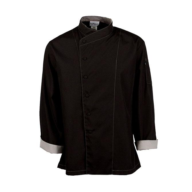 Crossover Collar Keep Kool™ V-Panel Mesh Back Chef Coat-CHEF TREND