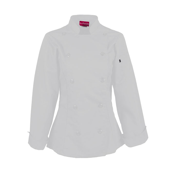 Women's 65/35 Ring Spun Twill Chef Coat-