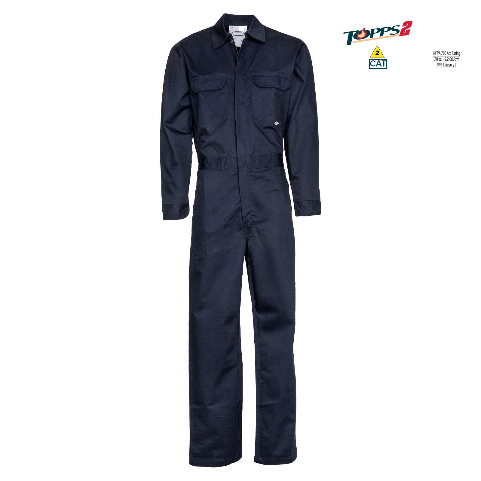 88/12 Cotton/Nylon Blend Flame Resistant Lightweight Economy Coverall-