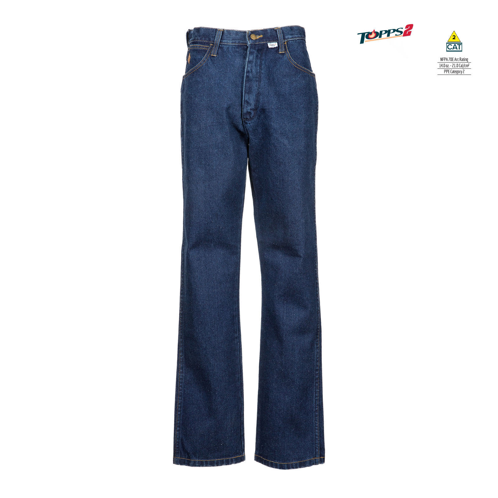 100% Cotton Flame Resistant Denim Work Jean-TOPPS