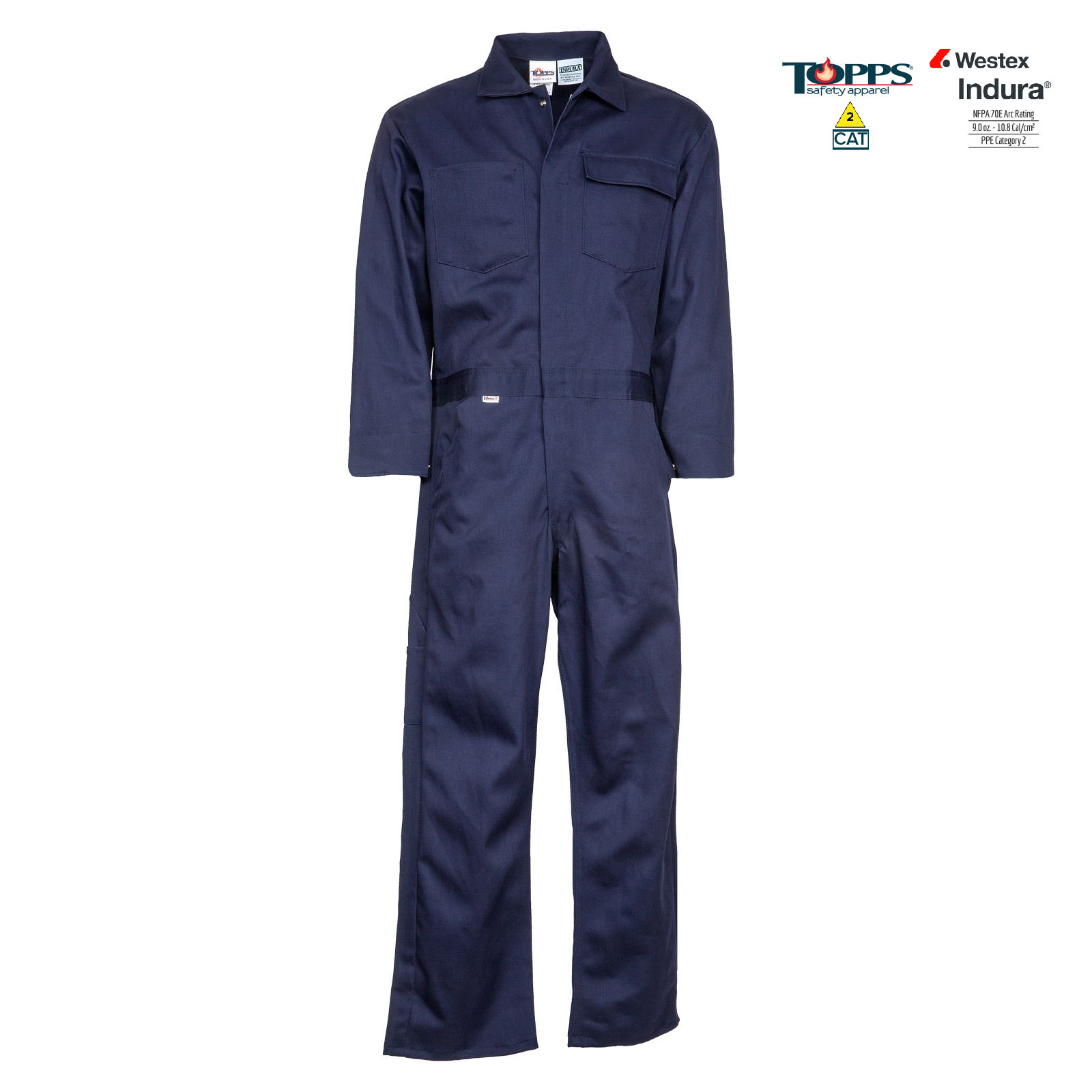 Indura® 100% Cotton Flame Resistant Standard Coverall-TOPPS