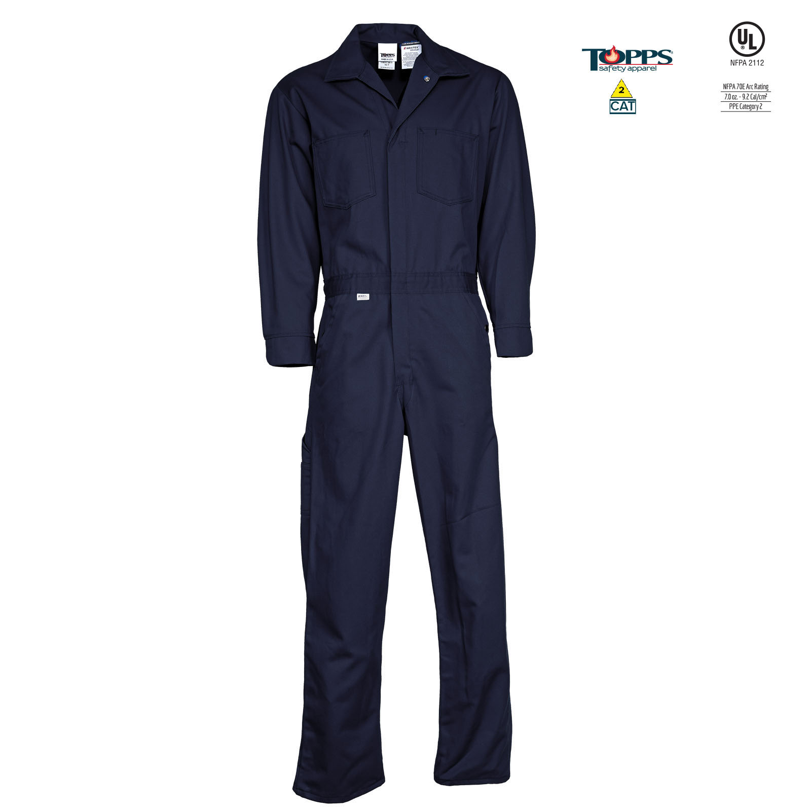 Deluxe 7 ounce PEAK FR 88/12 Cotton/Nylon Blend FR Coverall-