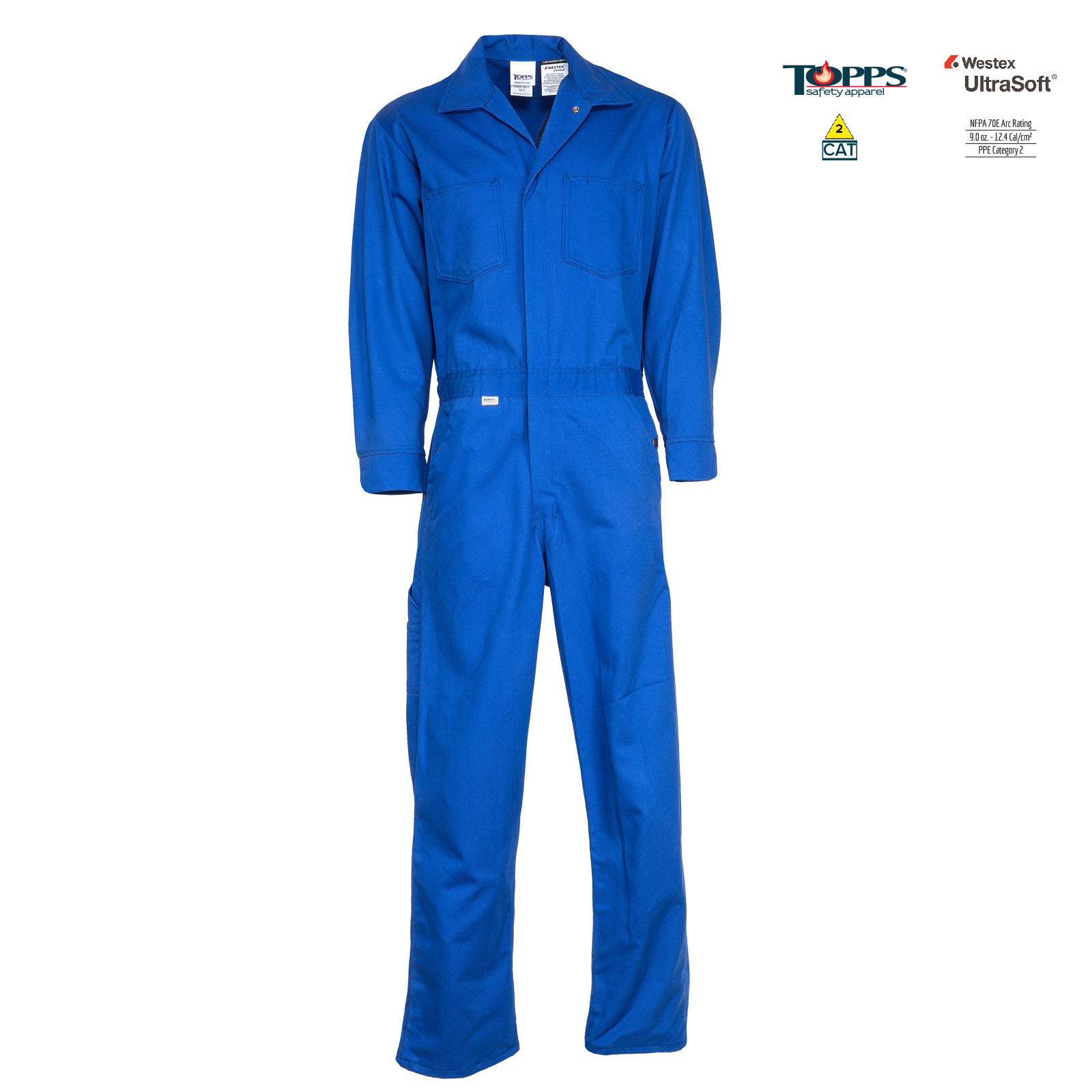 Deluxe 9 ounce UltraSoft® by Westex 88/12 Cotton/Nylon Blend FR Coverall-TOPPS