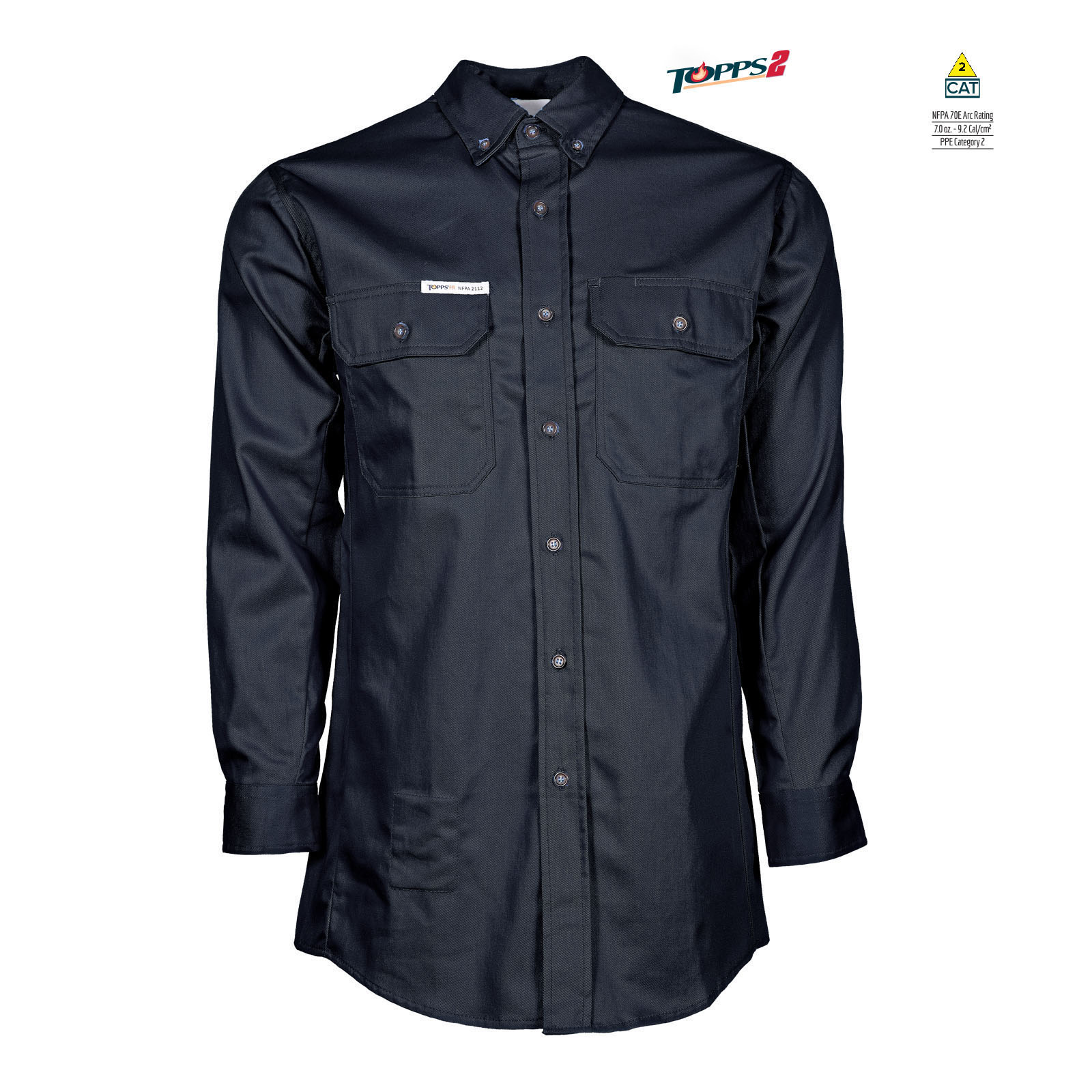 88/12 Cotton/Nylon Blend Long Sleeve Flame Resistant Button-Front Shirt-
