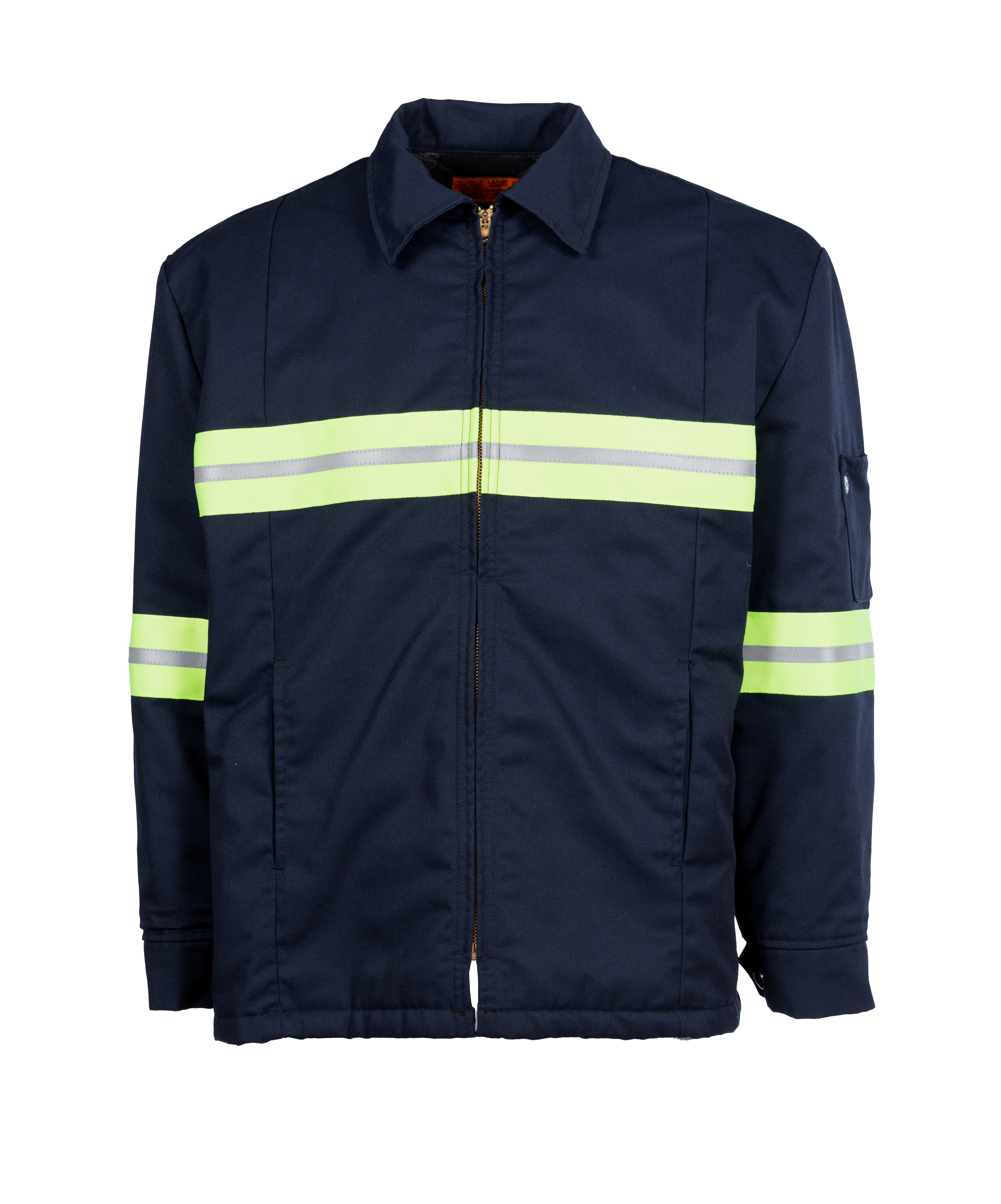 65/35 Enhanced Visibility Men's Lined Panel Jacket-Pinnacle WorX