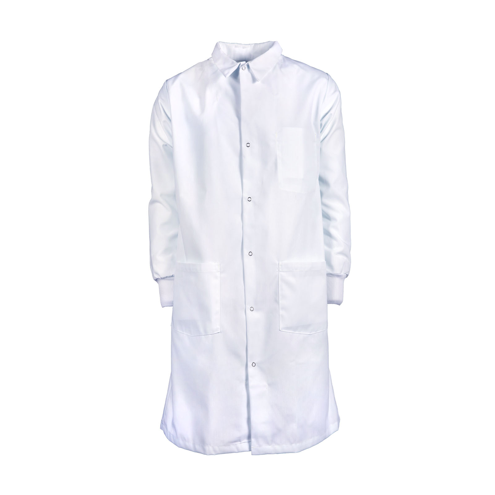 100% MJS Spun Polyester Precautionary Coat w/ Snaps-PINNACLE IMAGE