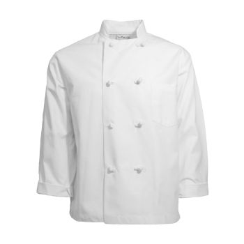 Basic 8 Knot Button Chef Coat-CHEF TREND