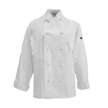 Basic Knot Button Cotton Chef Coat-CHEF TREND