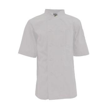 Keep Kool 1/2 Mesh Back Chef Coat, Half Sleeve-