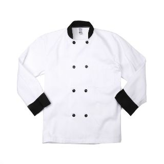 C825 Black Trim Chef Coats