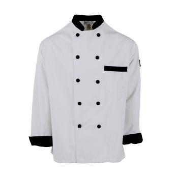 Black Trim Chef Coat-