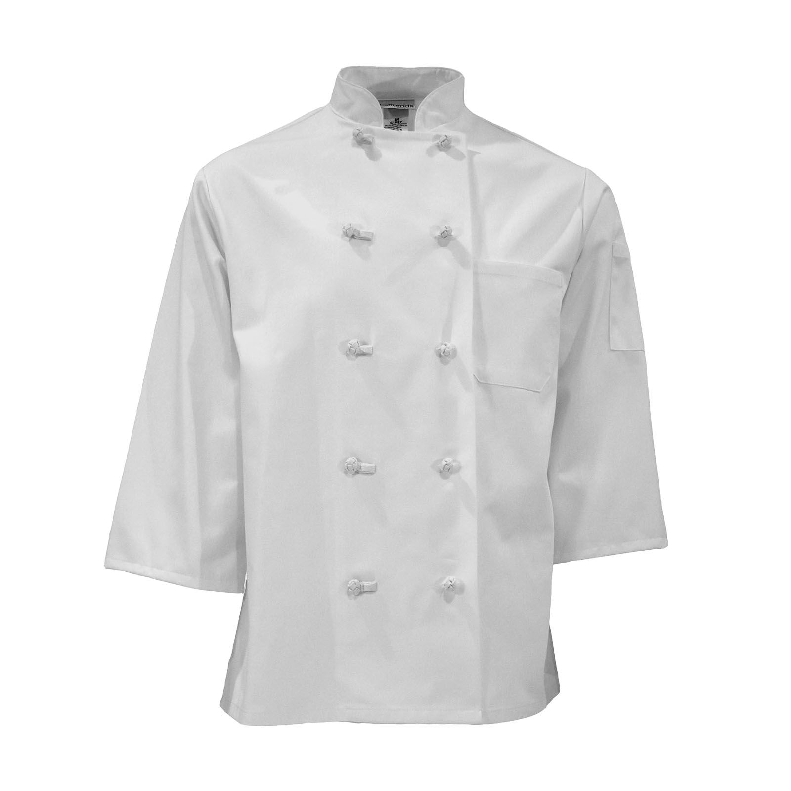 3/4 Sleeve Knot Button Chef Coat-