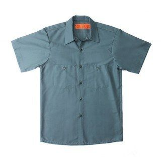 Male 65/35 Industrial Work Shirt - Short Sleeve