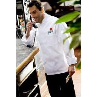 C310 Plastic Button Chef Coats - Full Sleeve