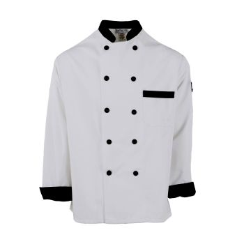 Black Trim Chef Coat-