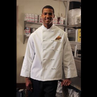 C330 Knot Button Chef Coats - Full Sleeve