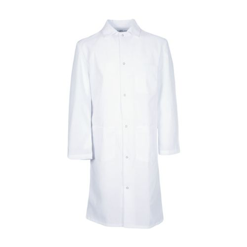 100% MVS Spun Polyester Gripper Snap Butcher Frock, 3 Pocket-PINNACLE HD