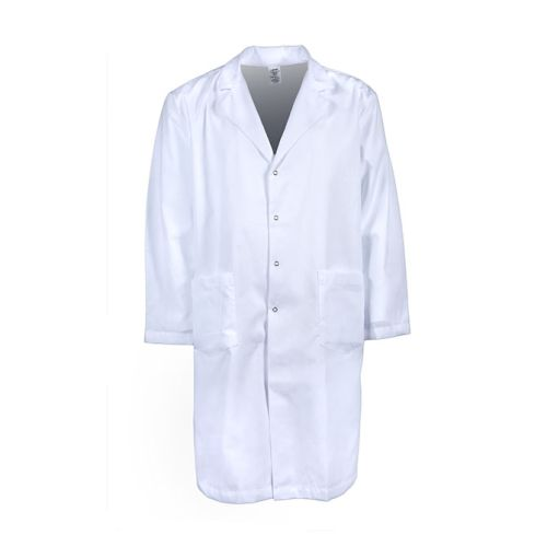 Men's Gripper Snap Lab Coat-PINNACLE HEALTH