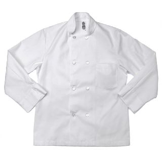 C108 Plastic Button Chef Coats - Full Sleeve
